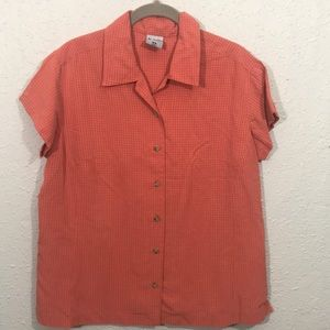 Columbia GRT Short Sleeve Button Up Blouse size XL